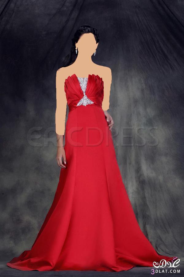 فستان الخطوبة ..... احمر