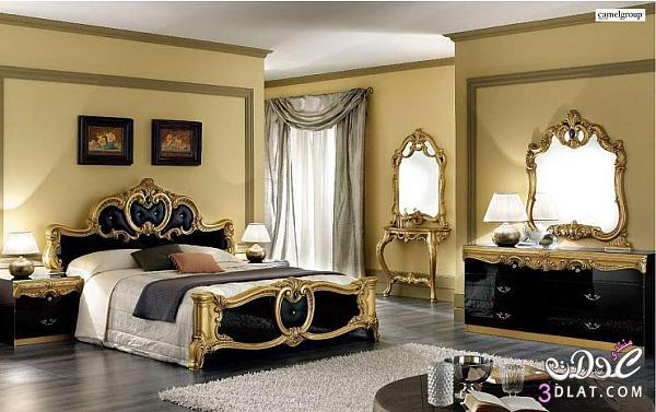 غرف نوم ذهبية رائعة وانيقة 2018   لولو حبيب روحي