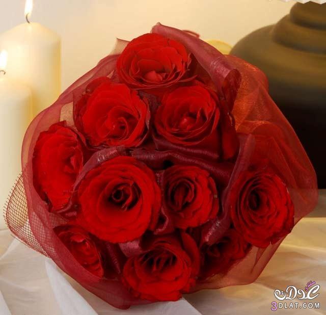 مسكات ورد للعروس باللون الأحمر من تجميعي همس بلا لمس