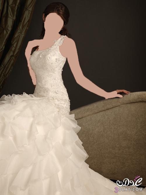 فستان زفاف رومانسي