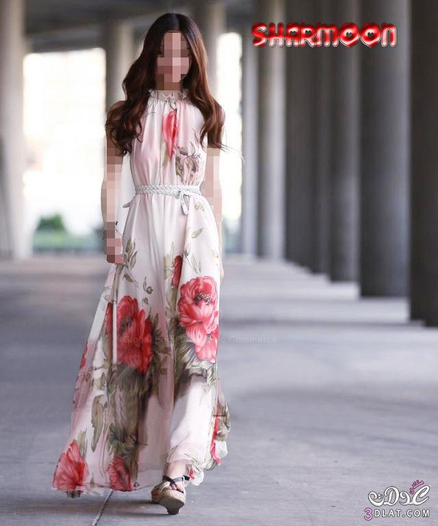 9f64094db33e7 فساتين طويلة للبنات روعة .. اجمل الفساتين الصيفية ..فساتين صيفية حصرية فى  عدلات .