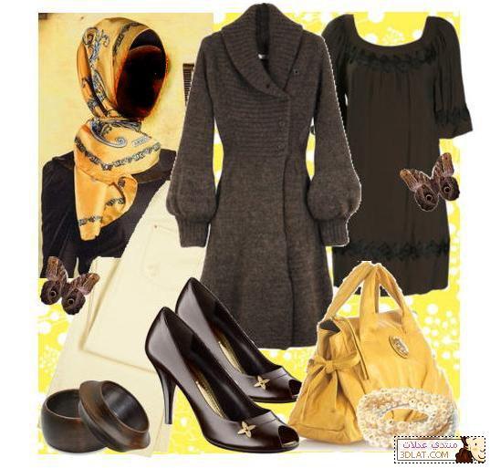 كولكشن ملابس المحجبات 2014 ملابس محجبات آزياء للمحجبات