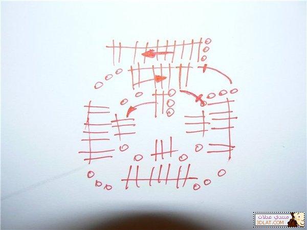 مفرش كروشيه مربع الخطوات والباترون 12928045772.jpg