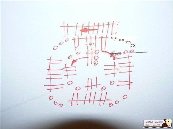 مفرش كروشيه مربع الخطوات والباترون 12928045773.jpg