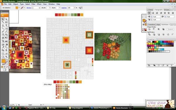 مفرش كروشيه مربع الخطوات والباترون 12928050058.jpg