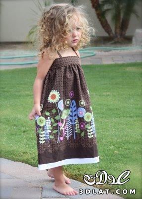 خياطة وتفصيل فستان طفلة خطوة خطوة بالصور