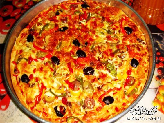 طريقة عمل البيتزا سهلة جداا عندنا وبس  129948184615