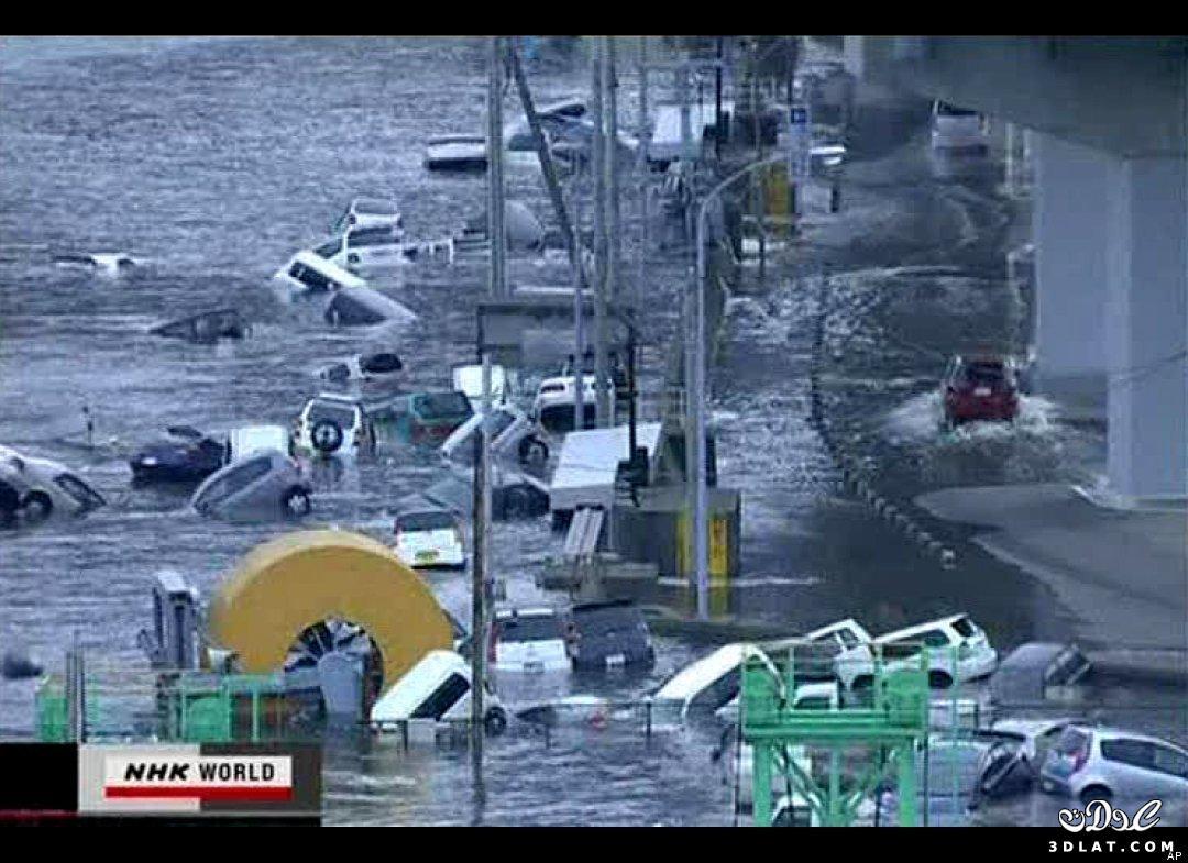 فيديو زلزال تسونامي اليابان