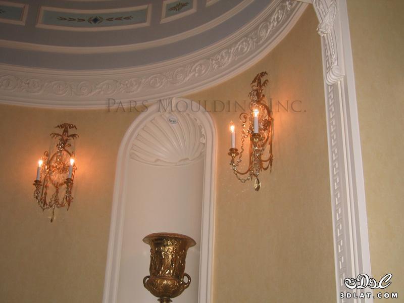 ديكورات جبس 2014 اسقف وحوائط دكورات جبسية لشقق رائعه