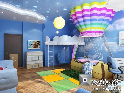 130147882312 غرف اطفال مودرن ديكورات   حوائط   دهانات بالصور