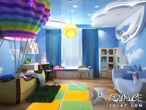 130147882313 غرف اطفال مودرن ديكورات   حوائط   دهانات بالصور