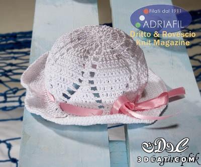 قبعة كروشيه بسيطة بالباترون