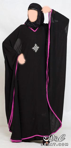 عبايات سوداء كاجوال 2012 عبايات 2012 بتصميمات حديثة