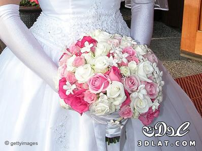 اختيار فستان الزفافللعروس النحيفهبوكيهات ورد العروس ماجملهازينة الزفاف عليك بالورود