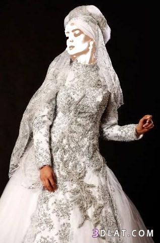 فستان زفاف من الاحلام لعروس محجبة