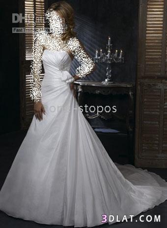 أجمل تصاميم فساتين الزفاف