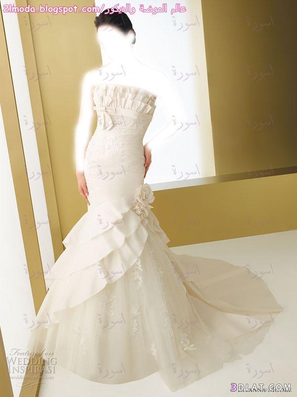 فستان زفاف رقيق