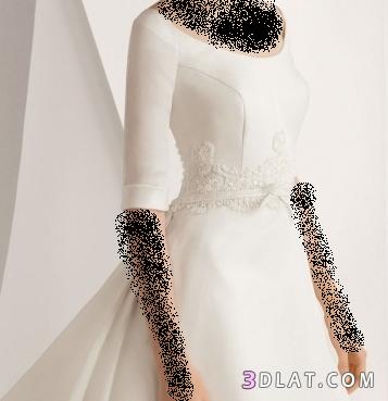 فساتين زفاف 2012بسيطه التصميم