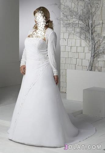 فساتين زفاف 2021 للسمينات