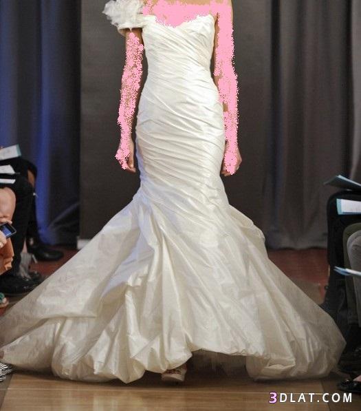 فساتين زفاف باللون الابيض والسكرى 2013