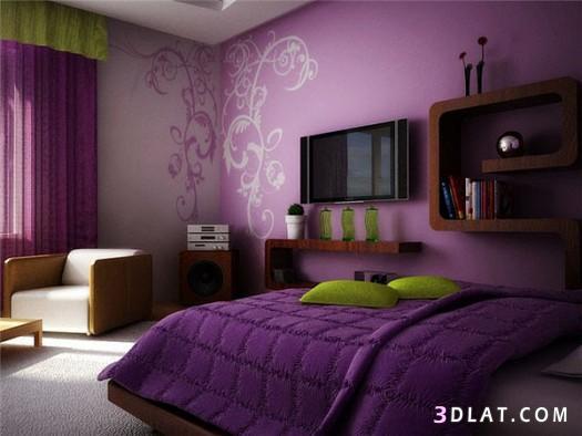 غرف نوم باللون البنفسجي.. لون العظمة والفخامة والتميز   لؤلؤة الايمان
