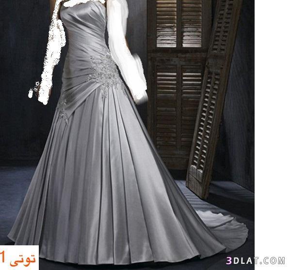 فساتين زفاف 2021  -فساتين زفاف 2021  باللون الفضى