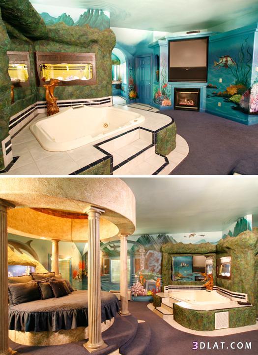 ديكورات غرف نوم غريبة,غرف نوم عجيبة   روزة