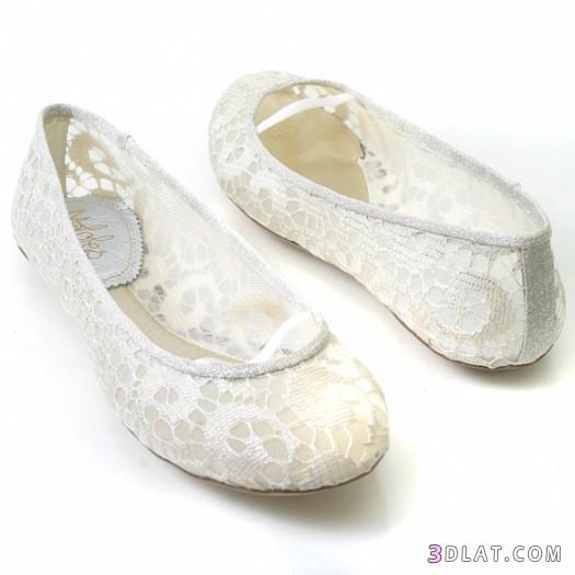 أحذية فلات للعروس 2019  الطويلة- اجمل احذية 2019  ارضى للعروس
