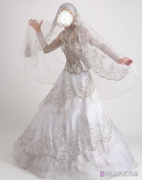 فساتين افراح للعروسة المحجبة