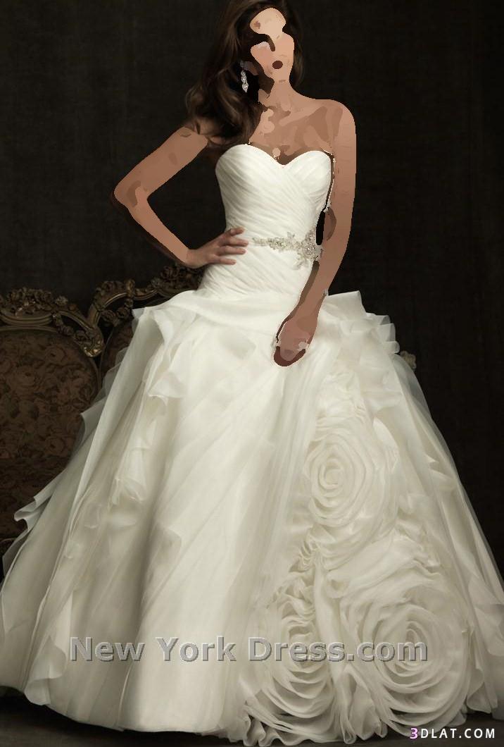فستان زفاف منفوش و عالموضة