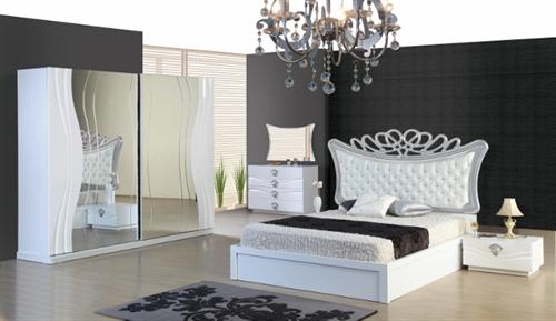 صور غرف نوم باللون السيلفر والاسود غرف نوم فخمه باللون الفضى