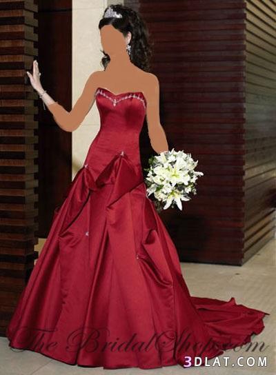 جمال اللون الاحمر لفساتين الخطوبه