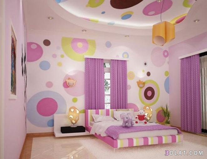 ديكورات غرف الاطفال الحديثة وبارقي الاشكال والالوان
