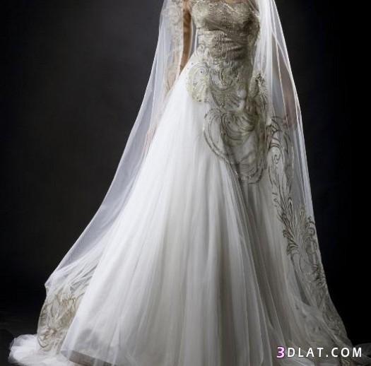 فستان زفاف 2021 2021 باللون الابيض رووعه