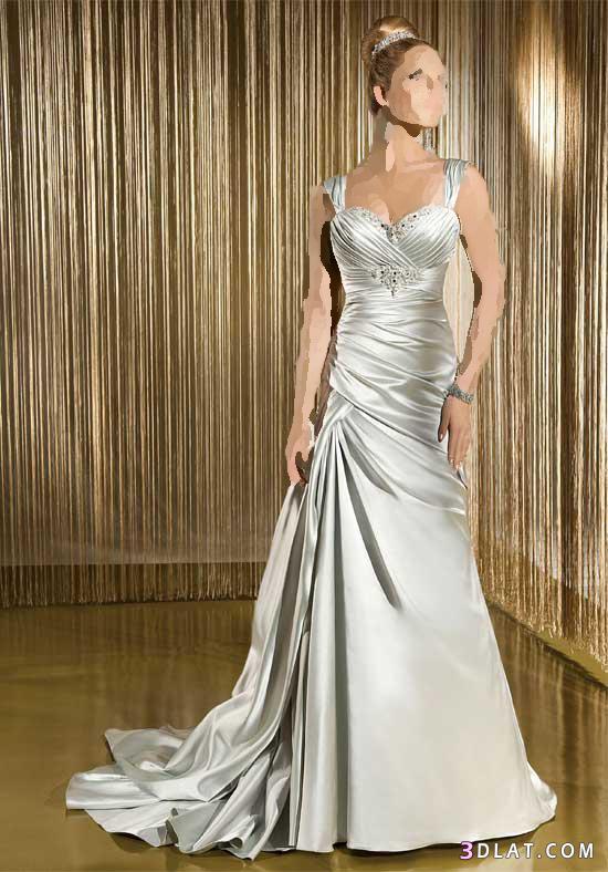 فساتين زفاف بلون سيلفر لمحبات التميز