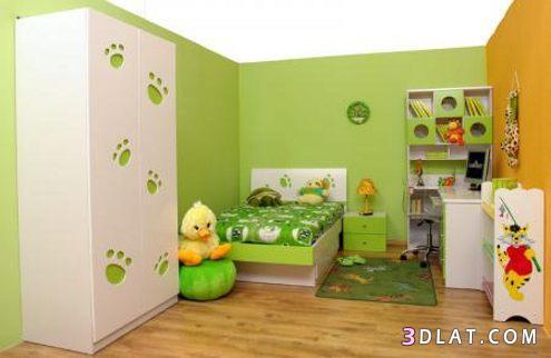 ديكورات غرف نوم أطفال باللون الأخضر ، غرف نوم أطفال باللون ألاخضر