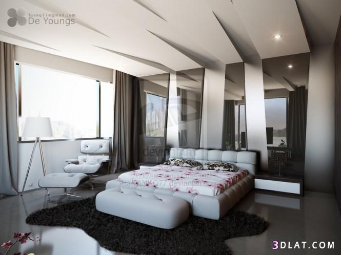 غرف نوم مودرن ، غرف نوم امريكية 2018 ، تصاميم غرف نوم عصرية   توتى 1