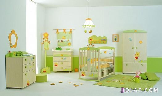 ديكورات غرف اطفال رضع ، غرف نوم للرضع ، غرف نوم جميلة للبيبى.   توتى 1