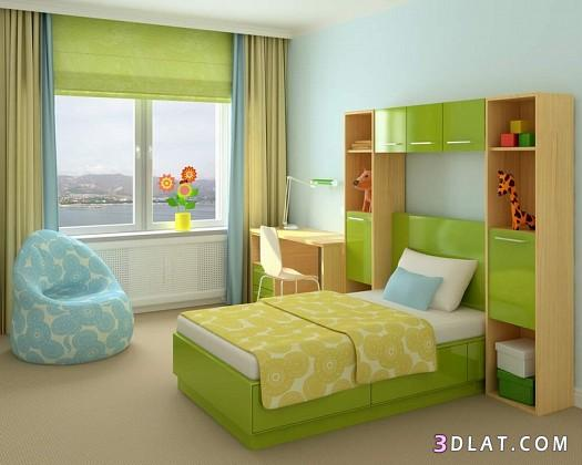 ديكورات غرف نوم اطفال ومراهقين بالصور غرف نوم فردى ومزدوجه بالصور