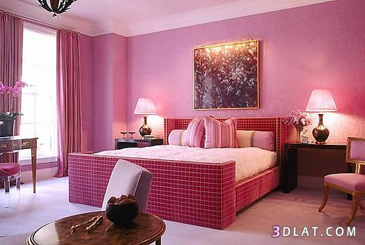ديكورات غرف نوم باللون الفوشيا والبيستاج 2018 غرف نوم بألوان عصرية