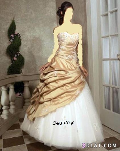 فساتين زفاف باللون الذهبي,فساتين زفاف وخطوبة باللون الذهبي ,صور فساتين العروس