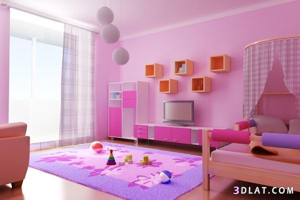 غرف نوم,غرف نوم وردية,غرف نوم للبنات,غرف وردية جميلة,غرف باللون