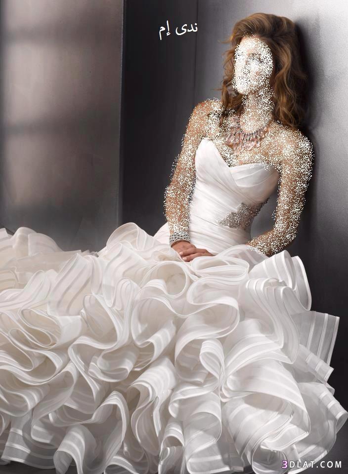 فساتين زواج منفوشة  ، فساتين زفاف منفوشة  ، فساتين افراح أنيقة