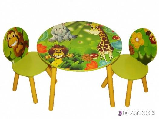 طاولات ملونة للاطفال ، مناضد صغار بالوان جذابة للاطفال ، ديكورات طاولات اطفال