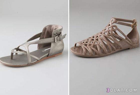 871a8553a احذية خفيفة وانيقة صنادل بدون كعب احذية رقيقة بدون كعب - روزة