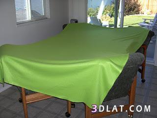 تعالى اعملى مفرش لسرير بدون خياطة , فكرة عمل غطاء سرير من غير خياطة,مفرش سرير بو