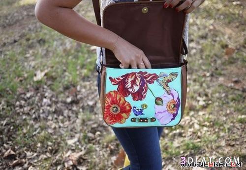 افكار لتزيين حقائب اليد,زينى حقيبتك,غيرى شكل حقيبتك,زينى حقيبه اليد,لونى حقيبة ي