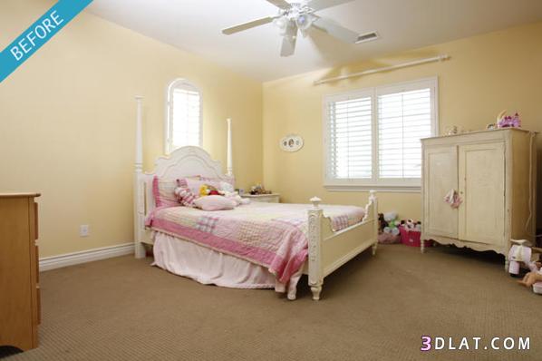 ديكور متنوعة قبل و بعد ، ديكور غرفة نوم Before After ، ديكور مطبخ