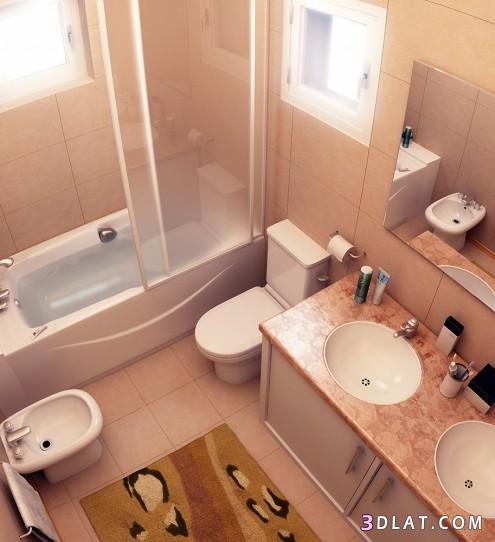 : ديكورات الحمامات بسيطة : ديكور