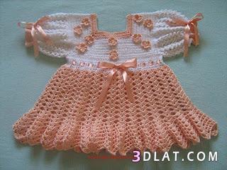 فساتين اطفال كروشيه بسيطه ملابس مواليد 136148670512.jpeg